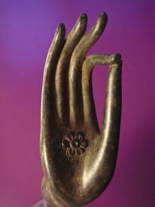 stone Buddha mudra